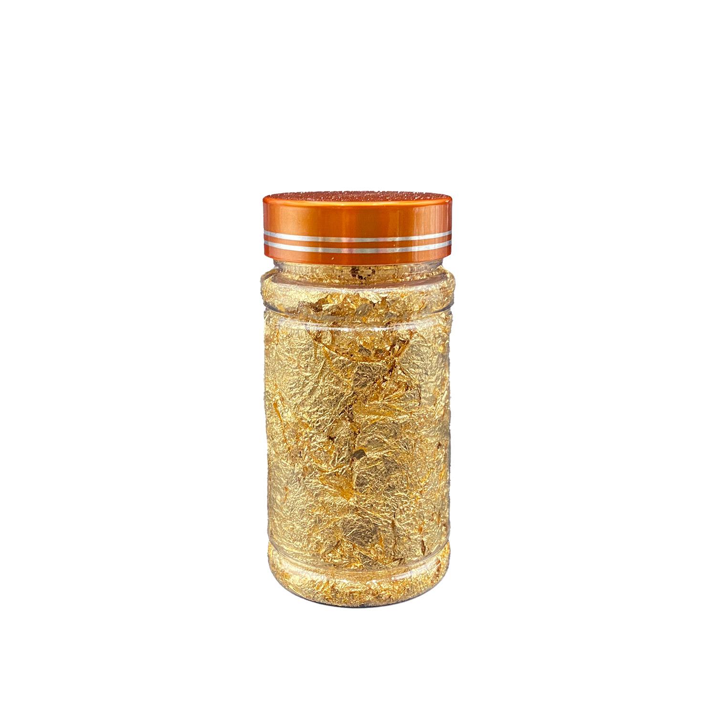 Goldimitation-Blattmetall Flakes - 3 Gramm